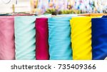 fabric store  traditional... | Shutterstock . vector #735409366