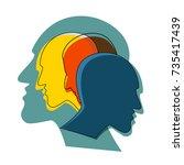 schizophrenia concept  symbol... | Shutterstock .eps vector #735417439