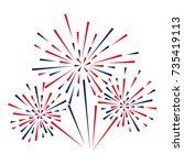 celebratory fireworks on a...   Shutterstock .eps vector #735419113