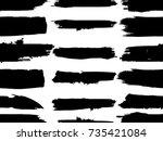 grunge paint stripe . vector... | Shutterstock .eps vector #735421084