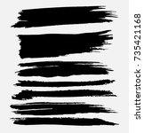 grunge paint stripe . vector... | Shutterstock .eps vector #735421168