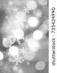 silver  beautiful blurred bokeh ...   Shutterstock . vector #735424990