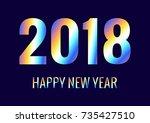 2018 happy new year....   Shutterstock .eps vector #735427510
