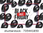 black friday rectangular... | Shutterstock .eps vector #735441850