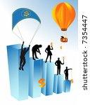 illustration of business people | Shutterstock .eps vector #7354447