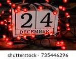 december 24th  christmas eve ... | Shutterstock . vector #735446296