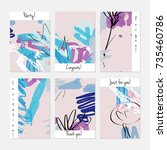 hand drawn creative universal... | Shutterstock .eps vector #735460786