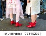 milan  italy   september 21 ... | Shutterstock . vector #735462334