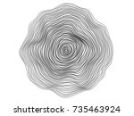 Abstract circle lines flowing wave surface on white background for design element, banner, background | Shutterstock vector #735463924