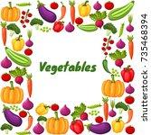 vegetables square banner design ...   Shutterstock .eps vector #735468394