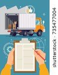 storage  logistics  local... | Shutterstock .eps vector #735477004