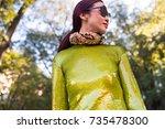 milan  italy   september 21 ... | Shutterstock . vector #735478300