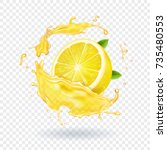 Lemon Fruit Juice Splash...