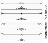decorative dividers | Shutterstock .eps vector #735486214