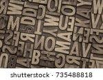 background of random vintage... | Shutterstock . vector #735488818