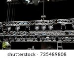 concert space installation.... | Shutterstock . vector #735489808