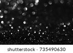 black and white glitter texture ... | Shutterstock . vector #735490630