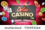 online casino banner vector.... | Shutterstock .eps vector #735493264