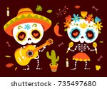 vector cartoon style day of... | Shutterstock .eps vector #735497680