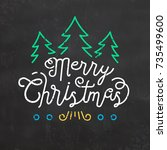 typographic christmas design | Shutterstock .eps vector #735499600