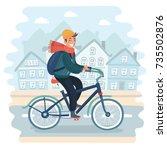 vector cartoon illustration of... | Shutterstock .eps vector #735502876