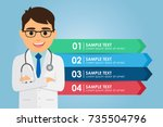 man doctor standing with a... | Shutterstock .eps vector #735504796