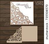 die laser cut wedding card... | Shutterstock .eps vector #735508570