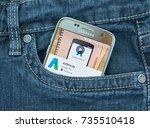 montreal  canada   october 2 ...   Shutterstock . vector #735510418