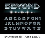 vector of modern font and... | Shutterstock .eps vector #735513073