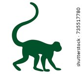 monkey icon | Shutterstock .eps vector #735517780