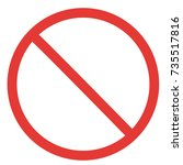 prohibitory sign template | Shutterstock .eps vector #735517816