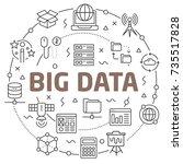 big data linear illustration | Shutterstock .eps vector #735517828