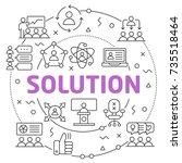solution linear illustration... | Shutterstock .eps vector #735518464