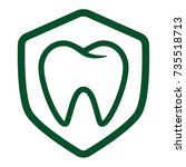 molar inside a shield icon