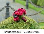 bridal bouquet. | Shutterstock . vector #735518908