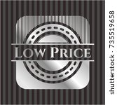 low price silver shiny badge