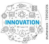 innovation linear illustration... | Shutterstock .eps vector #735520156