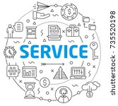 serviceslinear illustration... | Shutterstock .eps vector #735520198