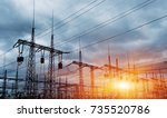 distribution electric... | Shutterstock . vector #735520786