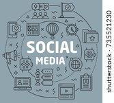 linear illustration social media
