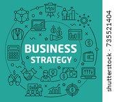 linear illustration business... | Shutterstock .eps vector #735521404