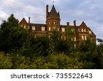 a late evening   blue hour view ...   Shutterstock . vector #735522643