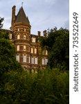 a late evening   blue hour view ...   Shutterstock . vector #735522649
