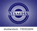 stamina emblem with jean... | Shutterstock .eps vector #735522694