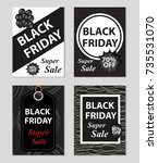 black friday super sale day set ...   Shutterstock .eps vector #735531070