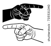 pointing hand. vector... | Shutterstock .eps vector #735531340