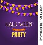 halloween party background... | Shutterstock . vector #735531694