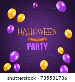 halloween party background... | Shutterstock . vector #735531736