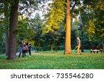 moscow  russia   october 8 ... | Shutterstock . vector #735546280