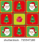 seamless christmas pattern | Shutterstock . vector #735547180